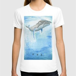 Ama - Whale mom and calf song T-shirt