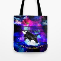 orca Tote Bags featuring Orca by haroulita