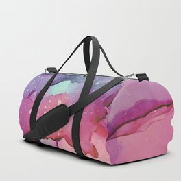 Abstract watercolor spill Duffle Bag