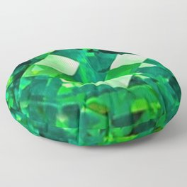 Emerald City May Emerald Birthstone Design Floor Pillow