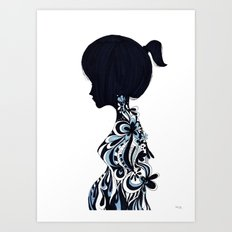 living lady Art Print