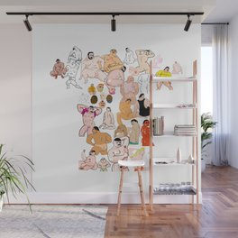 Voo Dudes Wall Mural