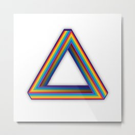 Impossible Rainbow Triangle Metal Print