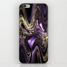 Surreal wavy fractal iPhone Skin