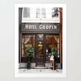 Hôtel Chopin Grands-Boulevards Paris Art Print