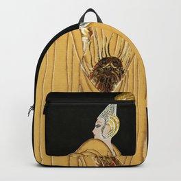 "Art Deco Vintage Illustration ""The Russian Cape"" Backpack"