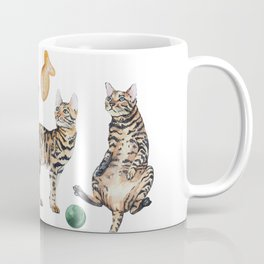 Watercolor spotted cats Coffee Mug