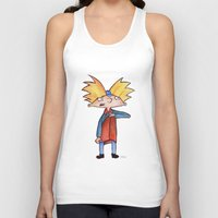 arnold Tank Tops featuring Hey Arnold!  by laura nye.