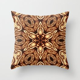 Fractal Filament Blast Pattern Throw Pillow