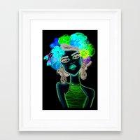 megan lara Framed Art Prints featuring LARA by Isaboleta