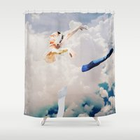 ballerina Shower Curtains featuring Ballerina  by Ed Pires