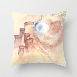 Etheric Landscape Throw Pillow