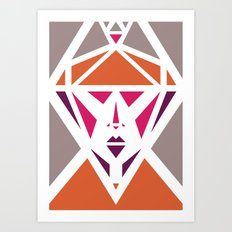 Five Triangle Faces - The Lady Art Print