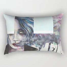 Smoke Girl Rectangular Pillow