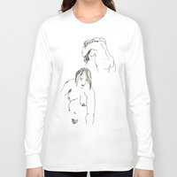 nudes Long Sleeve T-shirts featuring Nudes by B. West