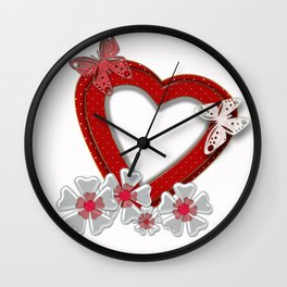 Love is like butterfly Wall Clock