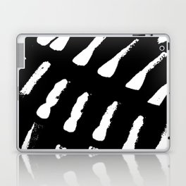 Minimal [2]: a simple, black and white pattern by Alyssa Hamilton Art Laptop & iPad Skin