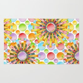 Birthday Party Polka Dots Rug
