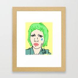 Clown Girl Framed Art Print