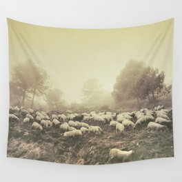 Mountain sheeps Wall Tapestry