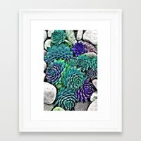 succulents Framed Art Prints featuring succulents by Sara Eshak