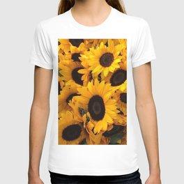 Pattern sun flowers T-shirt