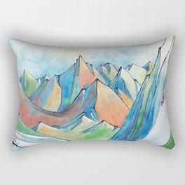 Push Yourself Rectangular Pillow