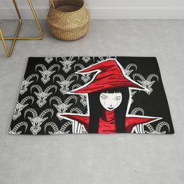 Red WITCH Doll ecopop Rug