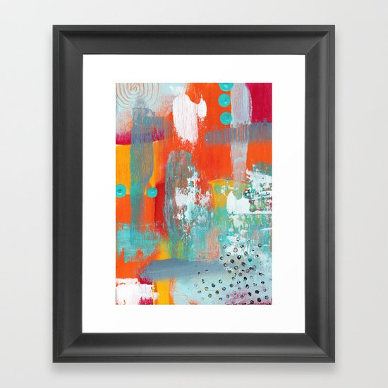 Colorful Chaos Framed Art Print