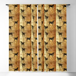 Hounds pattern Blackout Curtain