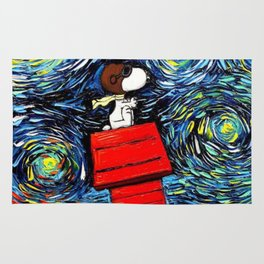 flying home snoopy Rug