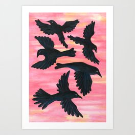 Flight at Dawn Art Print
