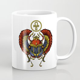 Egyptian Scarab Ankh Ancient Symbol Coffee Mug