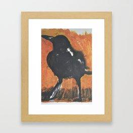 Magpie at Dawn Framed Art Print