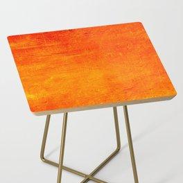 Orange Sunset Textured Acrylic Painting Side Table