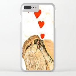 Otter love Clear iPhone Case