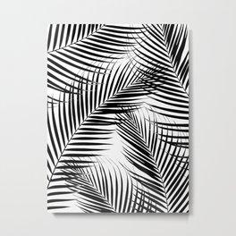 Palm Leaves - Black & White Cali Vibes #1 #tropical #decor #art #society6 Metal Print