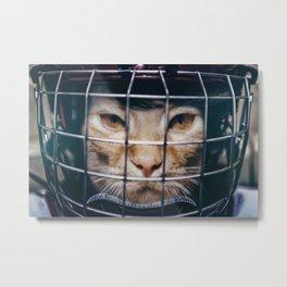 Le hockey cat - 10th life Metal Print