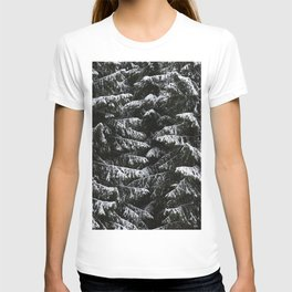 Melting of the snow in forest. T-shirt