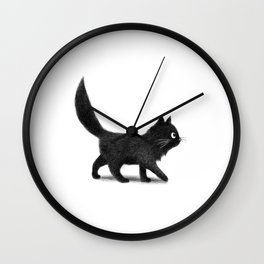 Creeping Cat Wall Clock