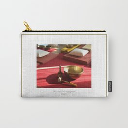 The sound of the golden singing bowl Carry-All Pouch