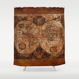 Vintage Olde Worlde Map 1620 Shower Curtain