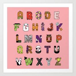 Halloween Alphabet Art Print