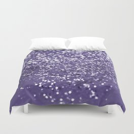 Sparkling ULTRA VIOLET Lady Glitter #1 #shiny #decor #art #society6 Duvet Cover