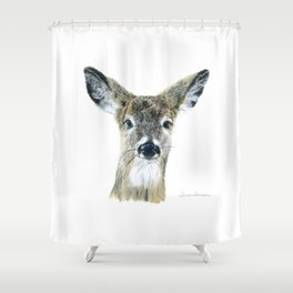 Doe Eyes by Teresa Thompson Shower Curtain