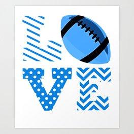 Love Foodball Blue Art Print