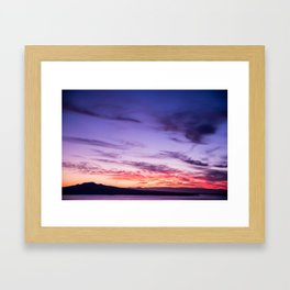Auckland Sunset Framed Art Print