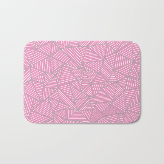 Ab Out Double Pink and Grey Bath Mat