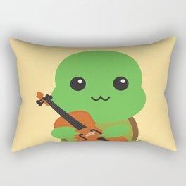 Violinist Turtle Rectangular Pillow