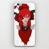 kuroshitsuji iPhone & iPod Skins featuring Grell Sutcliff // Pansy by Nadidrawings